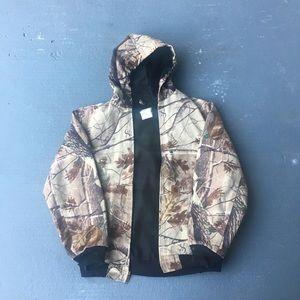 Camo carhartt coat